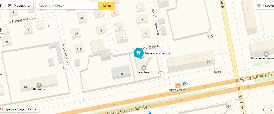 Улыбка на карте Яндекс